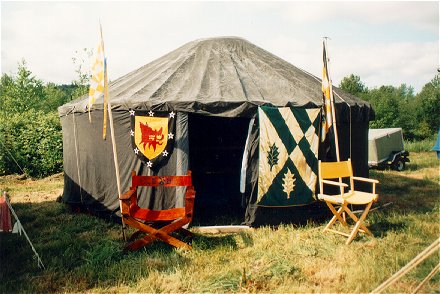 Mistress Elizabeth of Braidwood and Sir Harrold of Warringtonu0027s yurt taken in An Tir at May Crown XXXII/1997. & Yurts Gers and Trellis Tents